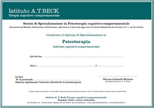 oma di specializzazione Istituto Beck
