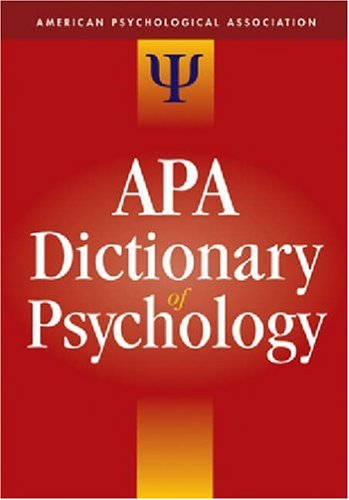 A.p.a. – Dictionary Of Psychology