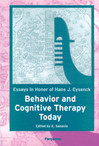 Behavior And Cognitive Therapy Today