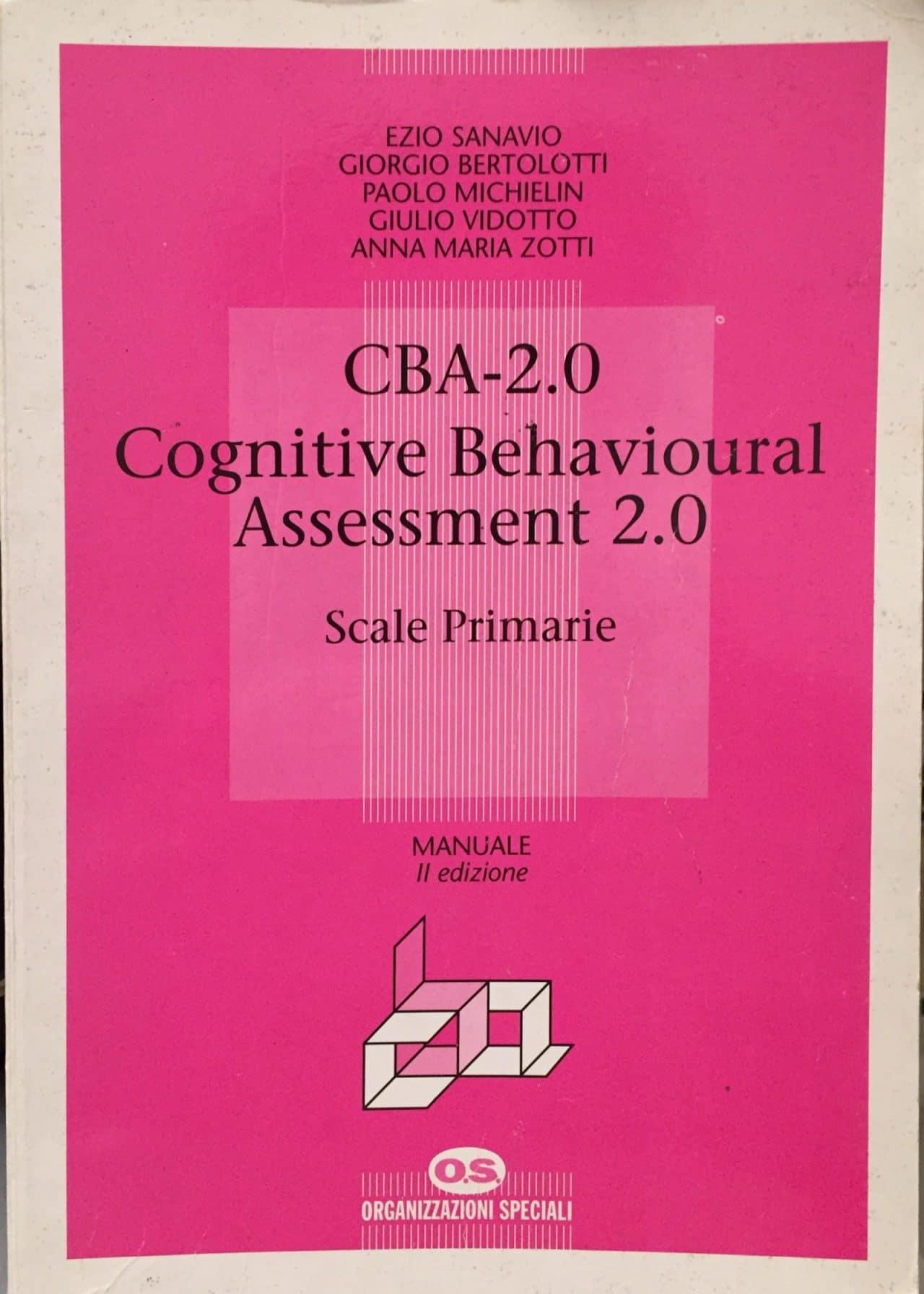 Cba-2.0 Cognitive Behavioural Assessment 2.0