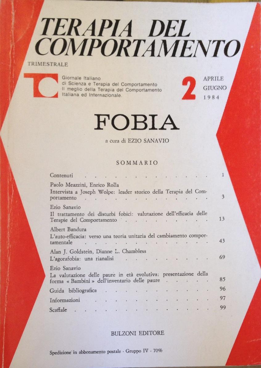 Fobia – Terapia Del Comportamento