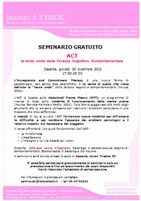 ACT La Terza Onda Della Terapia Cognitivo Comportamentale