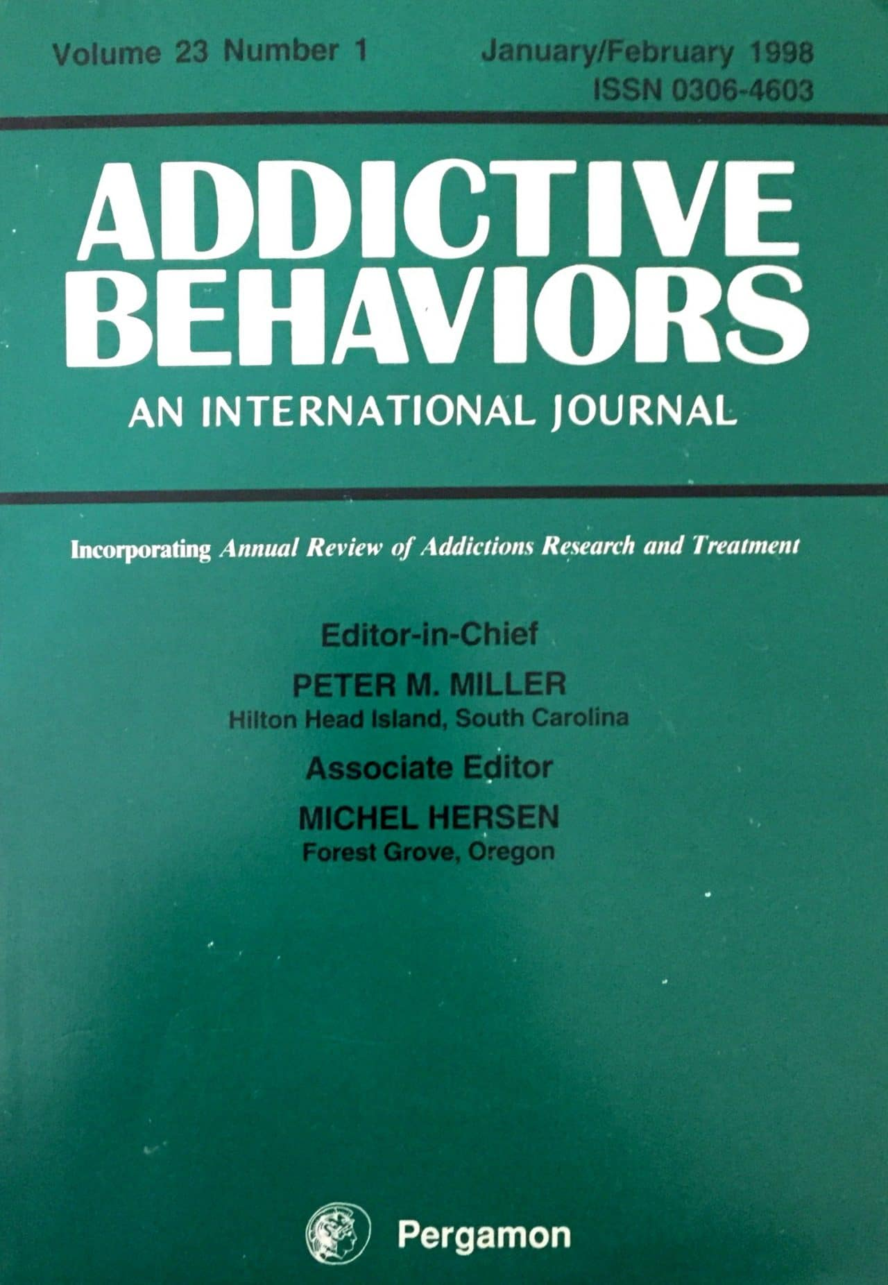 Addictive Behaviors – An International Journal