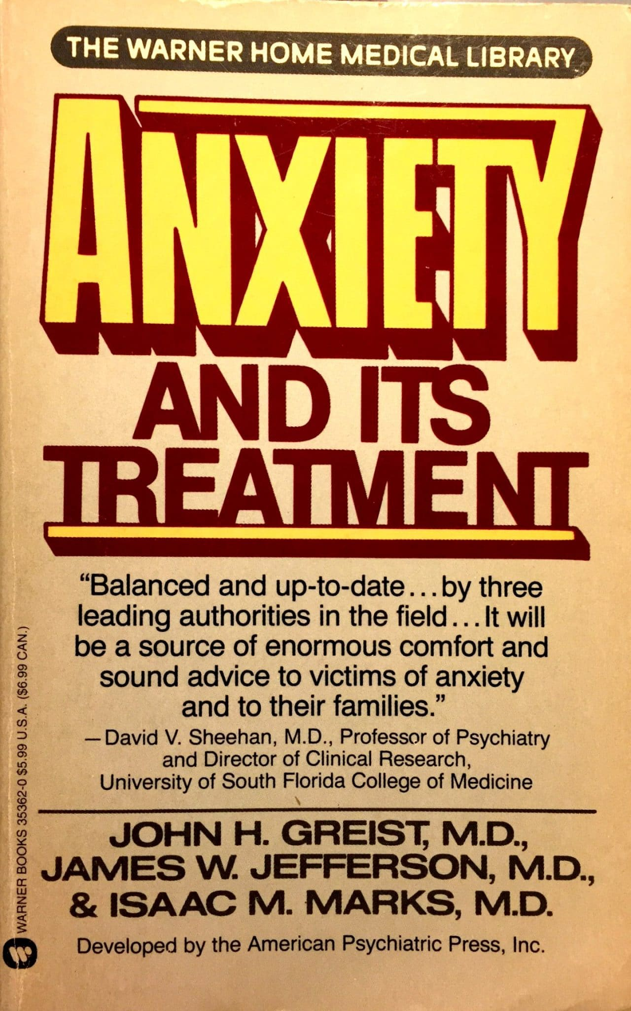 Anxiety And It's Treatment