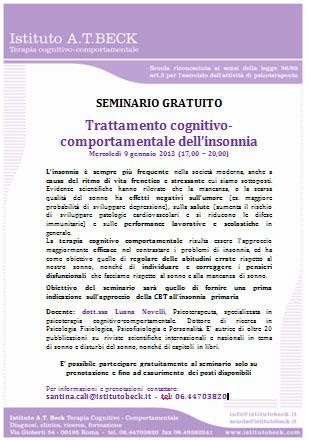 Trattamento Cognitivo-comportamentale Dell'insonnia Primaria