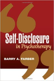 Self-discolsure In Psychotherapy