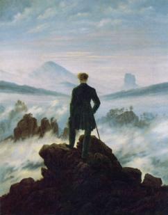"""C. D. Friedrich, """"Il viandante sul mare di nebbia"""" (1818) per Guarire dalla depressione"""