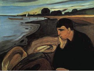 """E. Munch, """"Malinconia"""" (1892) per Depressione: caratteristiche, sintomi e cura"""