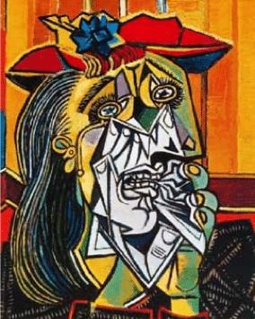 """P. Picasso, """"Les deimoiselles d'Avignon"""" (1907)"""