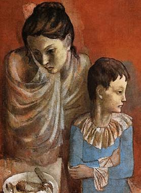 """P. Picasso, """"Madre e figlio"""" (1905) per depressione post partum"""