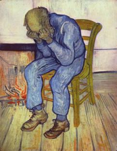 """V. van Gogh, """"Uomo anziano nel dispiacere"""" (1890) per prevenire la ricaduta della depressione"""